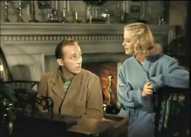 Bing Crosby sings White Christmas to Marjorie Reynolds color ...