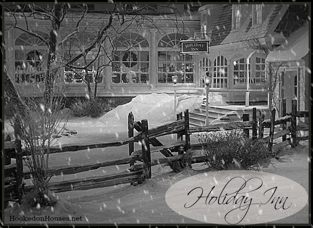 a classic white christmas in the movie holiday inn
