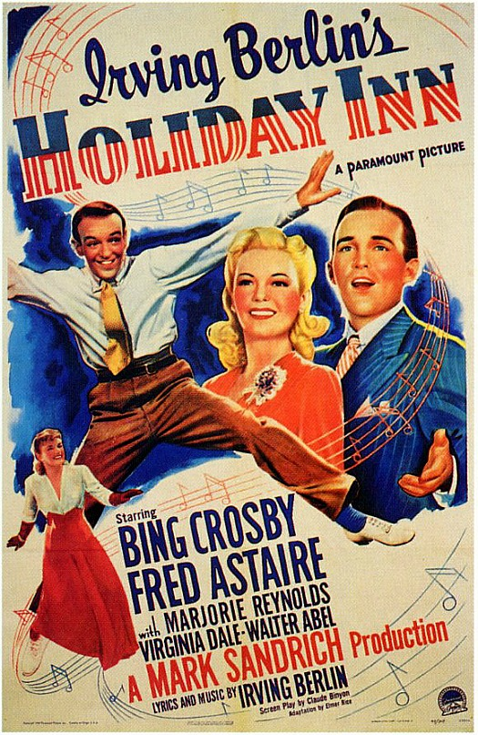 movie poster for Holiday Inn starring Bing Crosby and Fred Astaire