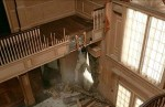 Tom Hanks falling over collapsing staircase in Money Pit movie