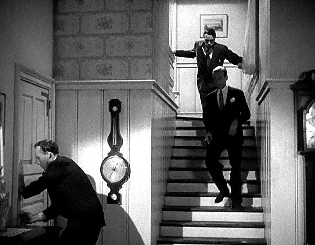 Fred Astaire coming down back stairs of Holiday Inn house