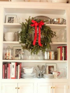 dining-room-cabinet-at-Christmas