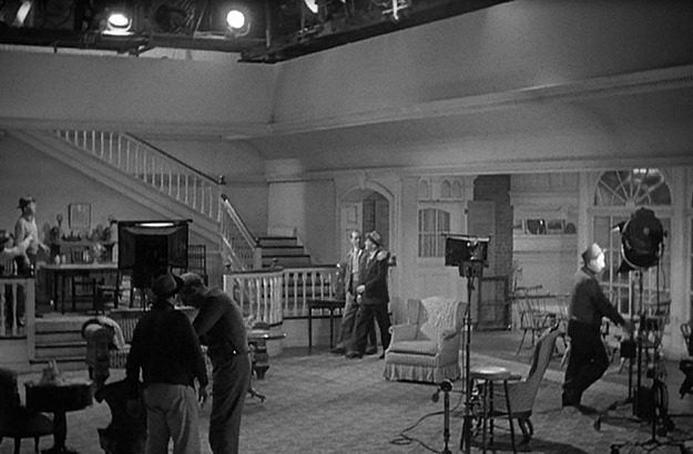 the living room set built for Holiday Inn movie