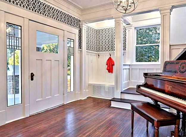 Inside Front Door Foyer After Reno Hooked On Houses