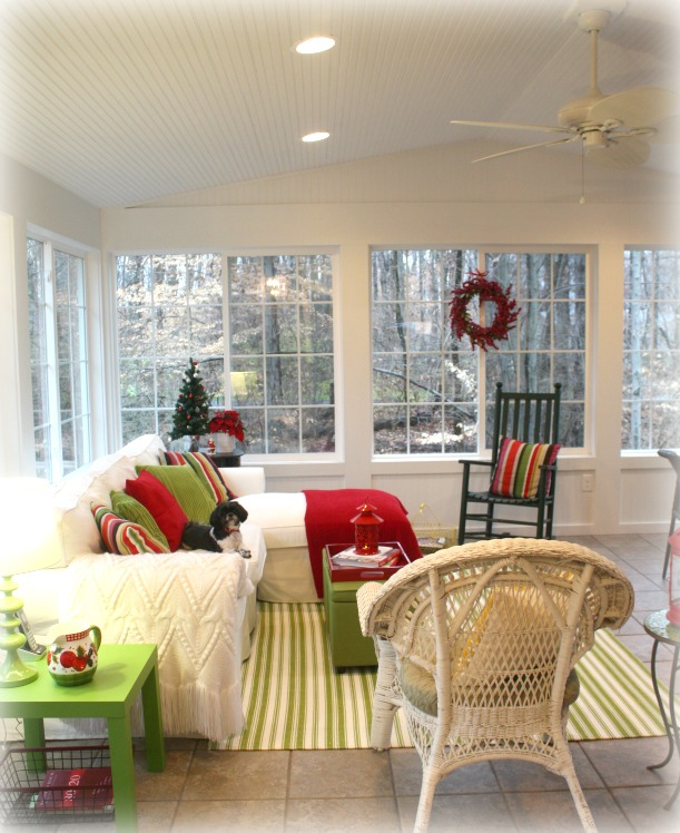 Decorating a sunroom for winter Florida sunroom ideas