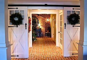 sliding barn doors lower entry