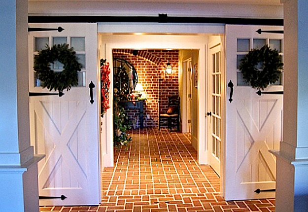 decorating sliding barn doors in homes sliding barn doors lower entry hooked on houses