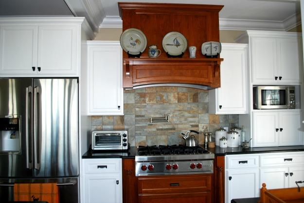 Amber's range in her kitchen