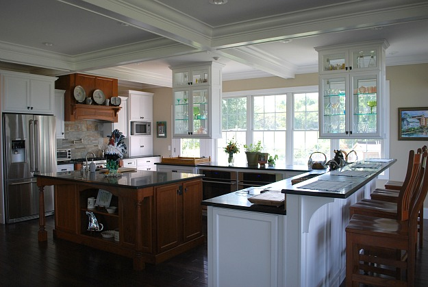Amber's white and wood kitchen