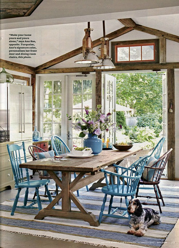 Ann Rae Interiors kitchen in BHG 2 13 Inspired by Turquoise: Ann Rae's House in Connecticut
