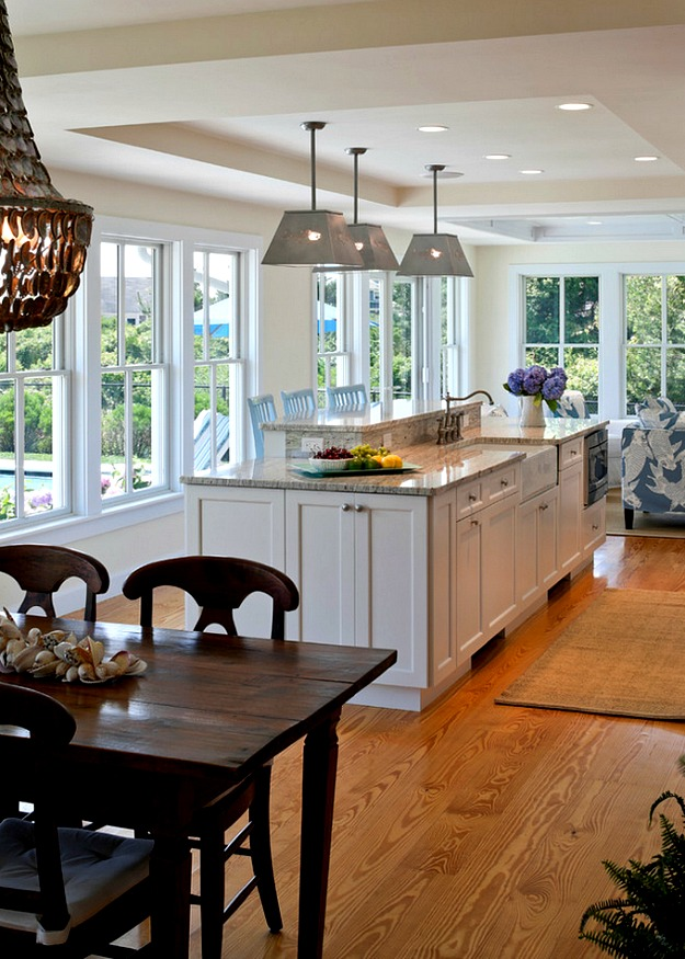 Cape Cod kitchen table and island