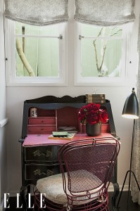 Ginnifer Goodwin's writing desk ELLE
