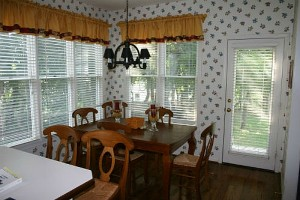 Julie's breakfast nook before makeover