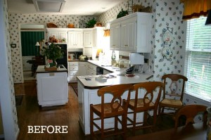 Julie's white kitchen before makeover cvr
