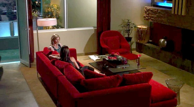 Lying Game-Mercer house-red sectional