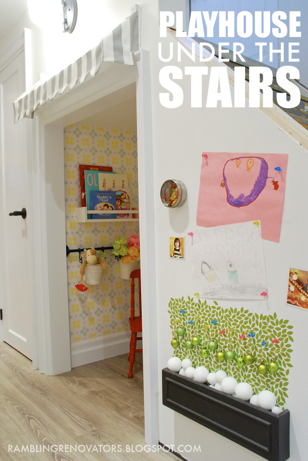 Playroom under the stairs Rambling Renovators