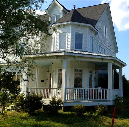 Home harmony blogger selling victorian style farmhouse Victorian house front