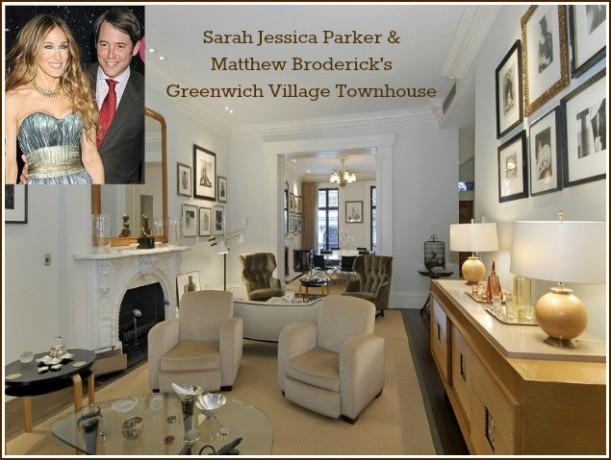 Sarah Jessica Parker Matthew Broderick Greenwich Village Townhouse cover