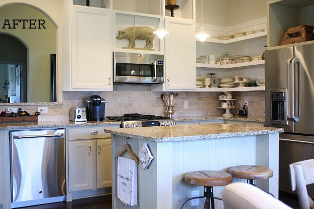 Tricia's cottage kitchen after