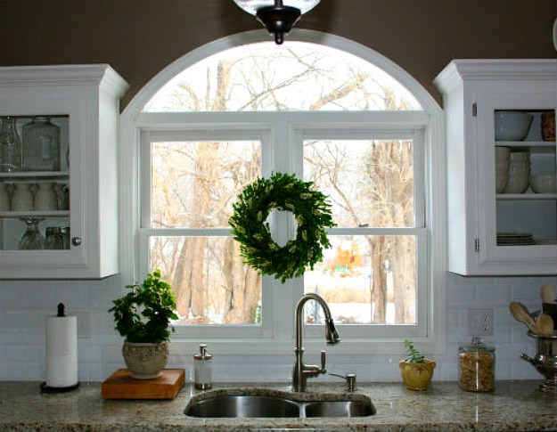kitchen window over sink arched window sink redecorated kitchen hooked on houses 6481