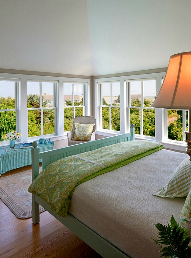 beachy bedroom with a view Cape Cod