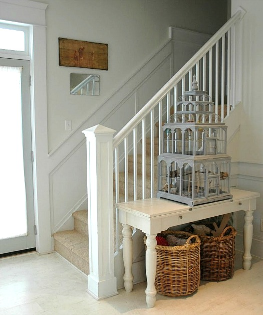 staircase and birdhouse