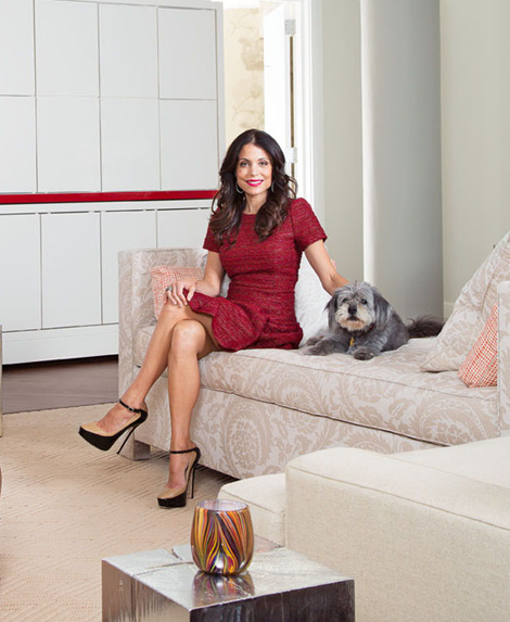 Bethenny Frankel at home in Tribeca Loft