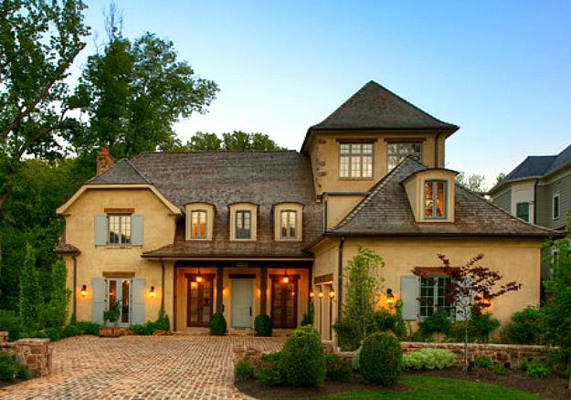 A new house inspired by old french country cottages for French country architecture