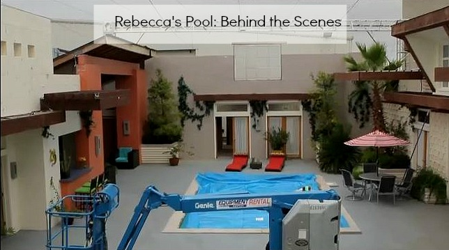 Rebecca's pool set behind the scenes Lying Game