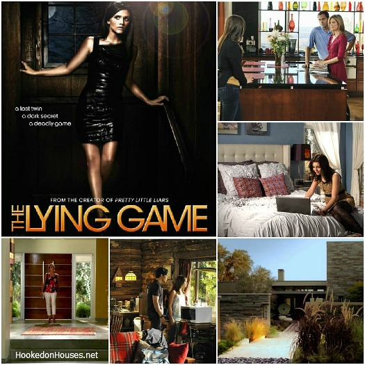 The Lying Game houses set design collage