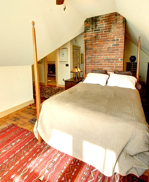 Victorian farmhouse attic finished-bed