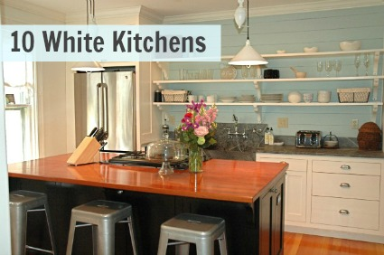 10 White Kitchens