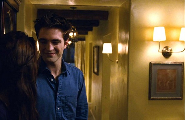 Bella and Edward in their cottage