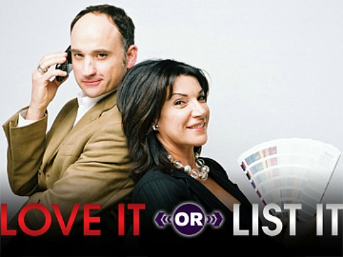 HGTV show Love It or List It promotional still with logo