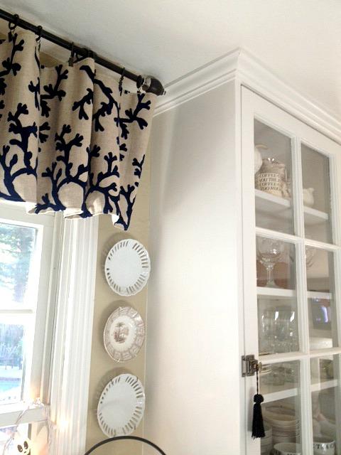 Martha's kitchen glass cabinet
