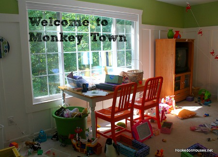 Playroom-craft-table-monkey-madness-Hooked-on-Houses