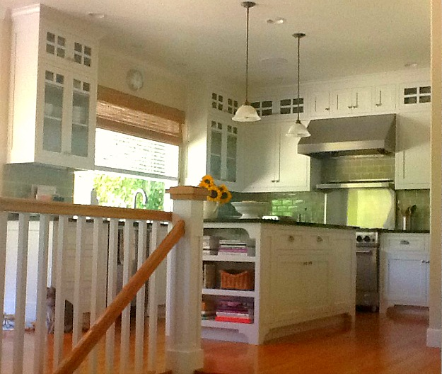 Kay\'s kitchen with white cabinets