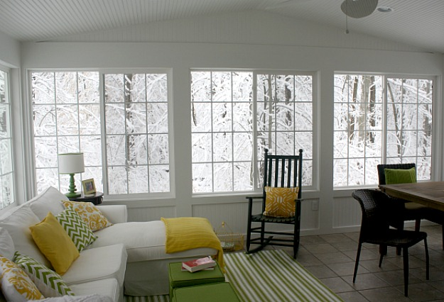 my sunroom on a snowy day 3-13