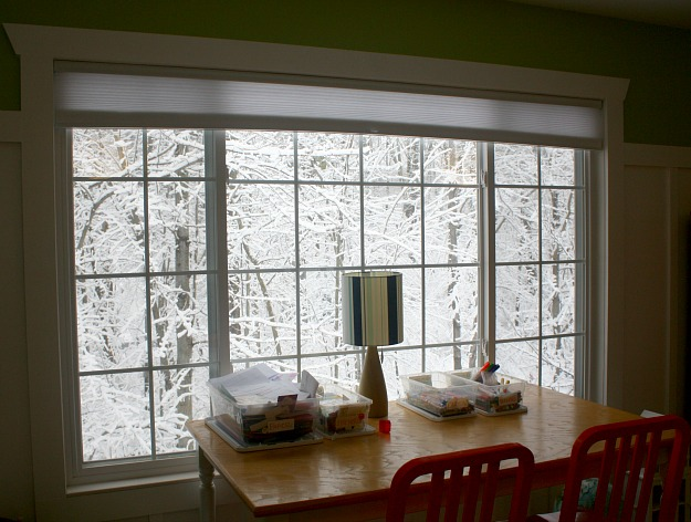playroom window snowy scene