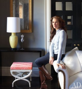 Brooke-Shields-at home in NY-Architectural Digest 3-12