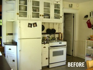 small kitchen before makeover
