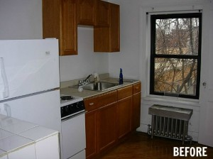 small carriage house kitchen before remodel