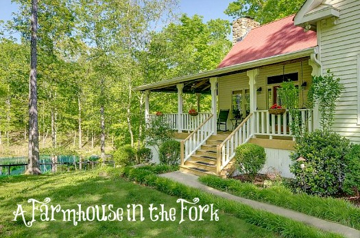 farmhouse in the fork front exterior with front porch