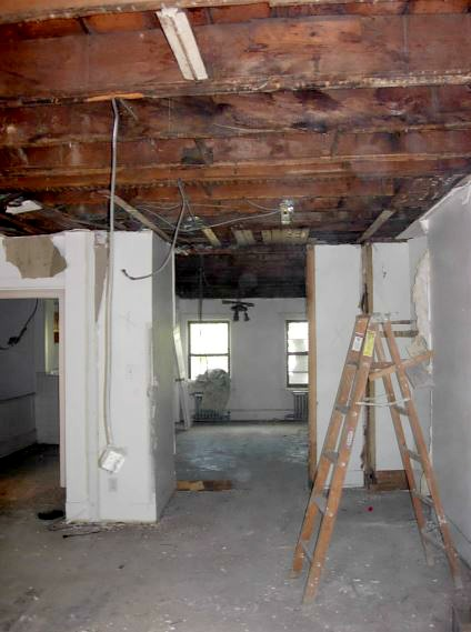 carriage house kitchen demolition phase