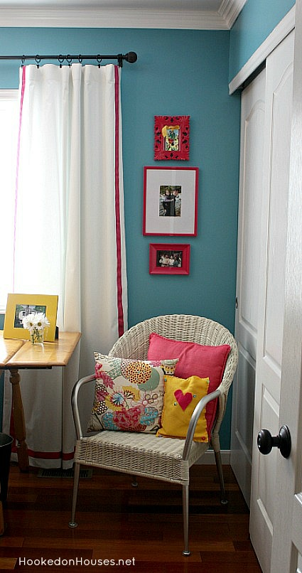 my home office makeover-wicker chair