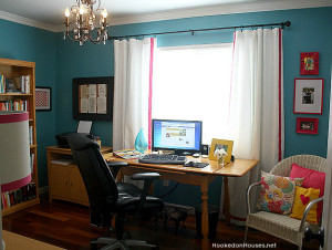 Julia's Teal Home Office