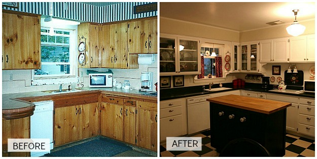 Candice's kitchen before and after