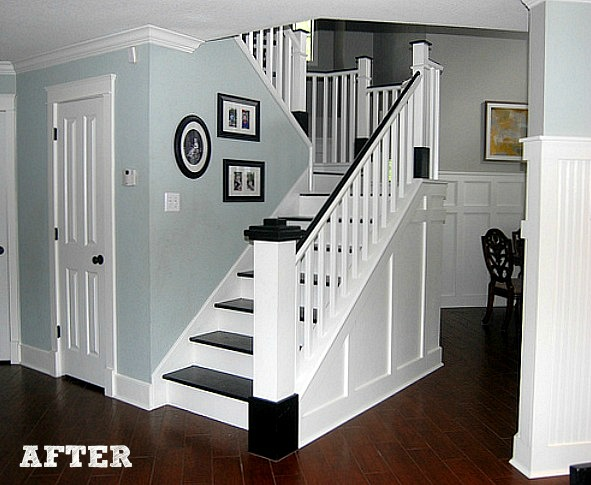 Jennifer's DIY staircase makeover AFTER