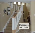 staircase before remodel
