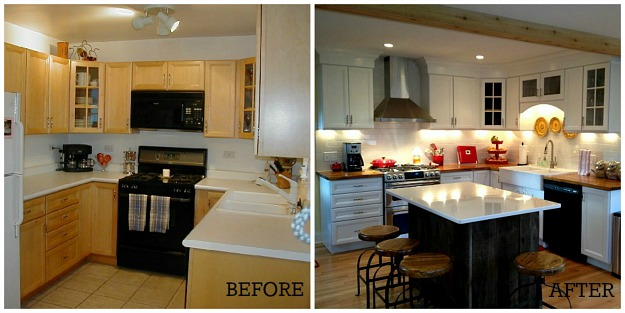 Maribeth's kitchen before and after